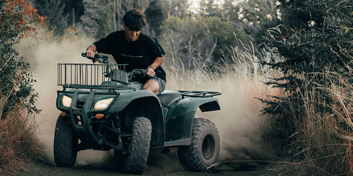 man driving ATV